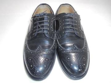 St. Michael Clubシューズ革靴ウィングチップレザー天然皮革日本