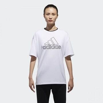 アディダス*adidas*MOUSSYコラボ★ビッグロゴTシャツ(OT)/新品シロ