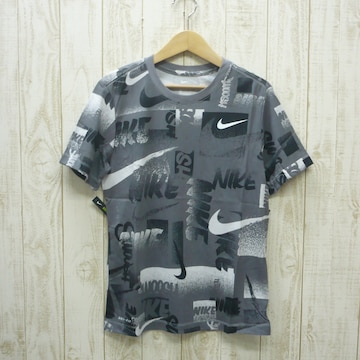 即決☆ナイキ特価ロゴ半袖Tシャツ GRY/Lサイズ 新品 ドライ