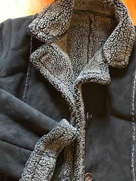 東京スタイル、ムートン風 コート黒サイズ11L