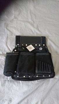 新品:ふくろ倶楽部:朱雀ヌバック六型釘袋SZN-836K(黒)