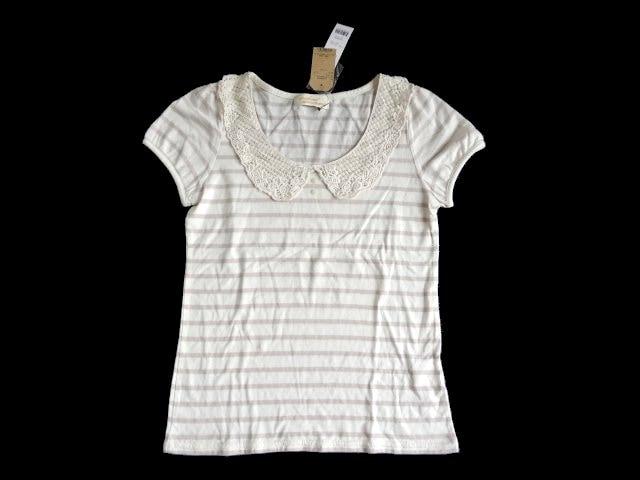 新品 定価1900円 ダブルクローゼット w closet レース  Tシャツ  < ブランドの