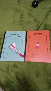 ムーミン ノート 2冊とボールペン2本セット