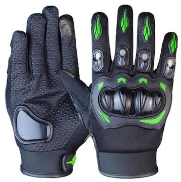 XXL バイク グローブ 手袋 プロテクター グリーン 緑