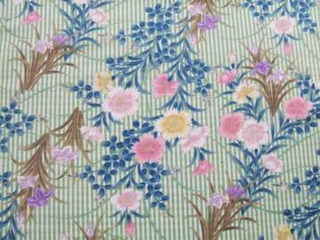 キルトゲイト 撫子と菖蒲柄 50×110
