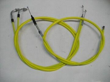 (2004C)CB250TCB400Nホーク30cmロングワイヤーセット黄色