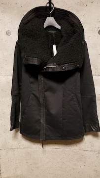 KMRIIケムリ  Hooded Twill Boa Coat 1