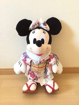 ディスニー ミニーマウス 着物/和服姿 ぬいぐるみ 40cm 非売品