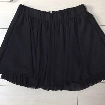INGNI☆イング☆ブラック☆黒☆ミニフレアスカート☆重ね着風
