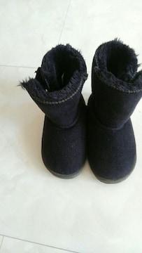 ムートンブーツ 黒