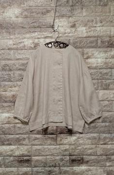 ◆&yarn ◆  linen Wボタン ジャケット  新品 beige