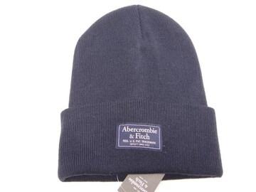 アバクロ メンズ ニット帽 NAVY 633670768