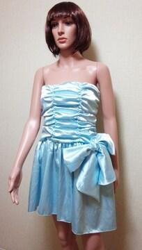 新同☆ageha☆くしゅ�Aいっぱい腰デカリボンのドレス☆3点で即落