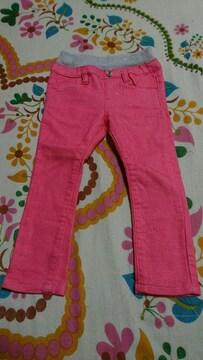 キッズ☆しまむら☆ピンク カラーデニムパンツ 90�a