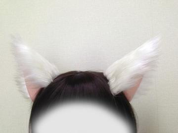 コスプレ小物★猫耳セット★白