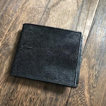 PELGIO シンプルお洒落!スティングレイ(エイ革)二つ折り財布