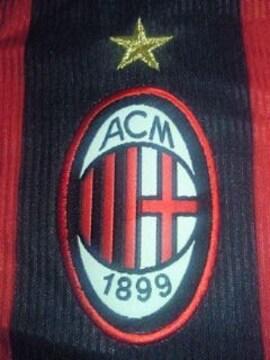 サッカー イタリア セリエA ACミラン adidas アディダス ユニホーム スポンサー Lサイズ 赤 黒
