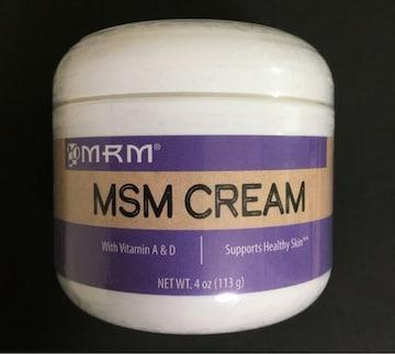 【MSMクリーム】 関節痛・肩こり・肌荒れに 《MRM》