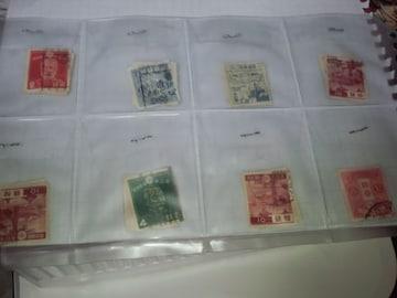 古い使用済み切手 ペーパーオフ16枚  �I