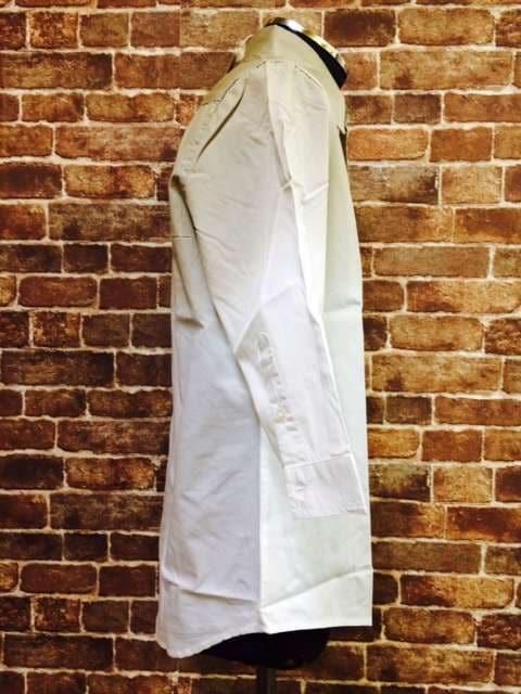 表記S/新品!imp.7分袖.ベージュ×白.グラデーションカラーシャツ.LHP.ラルフ < 男性ファッションの