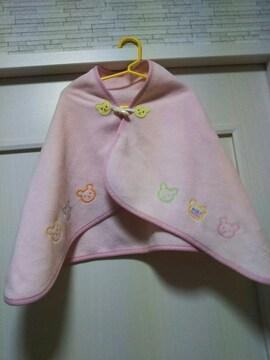 ミキハウス フリーサイズ モコモコ コート ポンチョ ジャケット