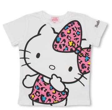 新品BABYDOLL☆120 ハローキティ×ヒョウ柄 Tシャツ 白 ベビードール