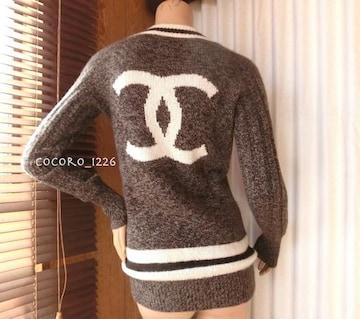 CHANEL☆カシミヤ ココマーク セーター 40 ヴィンテージシャネル