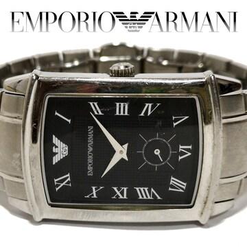 良品 1スタ★エンポリオアルマーニ【クラシック】メンズ腕時計
