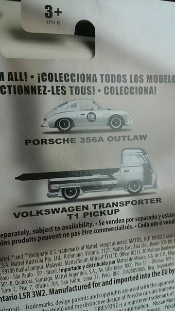 ホットホイール フォルクスワーゲン トランスポーターピックアップ/ポルシェ 356A 未開封 新品 < ホビーの