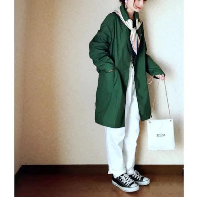 【新品】pour toujours*きれい色コットンのライトコート・M〜Lサイズ