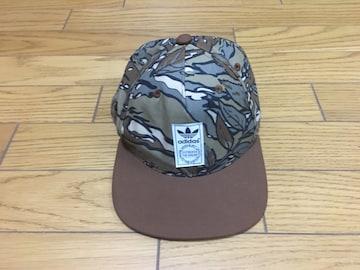 中古アディダス総柄キャップ帽子54〜57センチ迷彩フリー