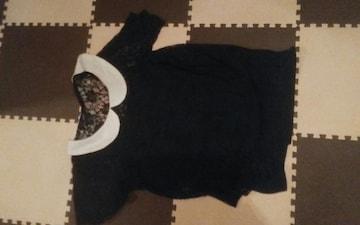 Jolie fleur 黒 キャミ付きレースブラウス 美品