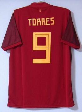 新品☆フェルナンド・トーレス☆スペイン代表☆赤L9番Nユーロ20