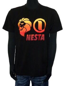 新品ネスタ吸水速乾グラデベーシックロゴTシャツ黒M