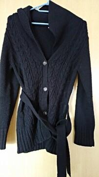 黒ニットカーデ 羽織