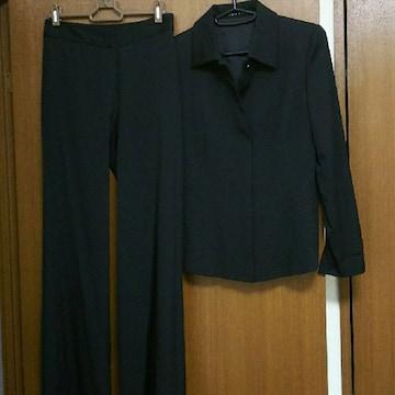 美品 黒 無地 冠婚葬祭OK JAYROジャイロ パンツ スーツ