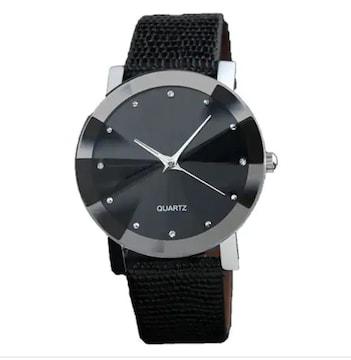 早い者勝ち500円★新作お洒落な薄型アナログ腕時計レディース黒