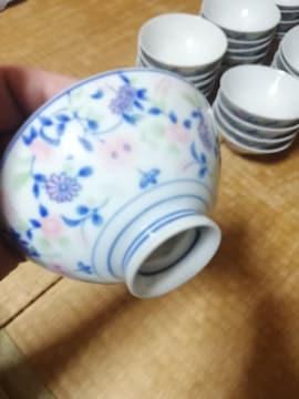 ☆激安☆大幅値下げ花柄お洒落な高級お茶碗40点セット(未使用)