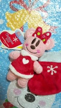 ディズニーランド TDL クリスマス 30周年 サンタ 靴下 ぬいぐるみバッジ ミニー