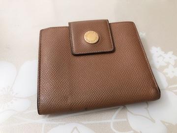 E092 BVLGARI ブルガリ 三つ折り財布 ブラウン系