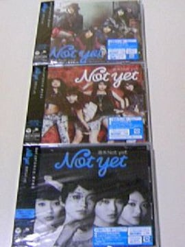 初回盤 CD 週末Not yet ABC 3枚セット/特典生写真付 AKB48 大島優子