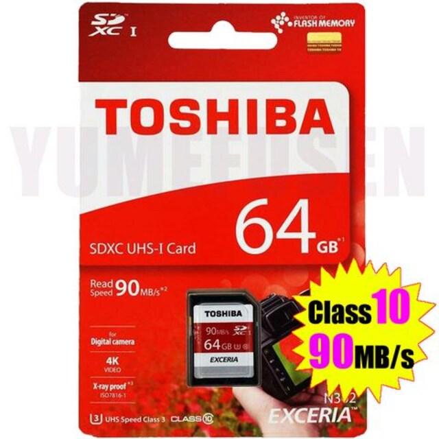 超高速 東芝 SDXCカード 64GB Class10 クラス10 90MB/s 日本製造品  < PC本体/周辺機器の