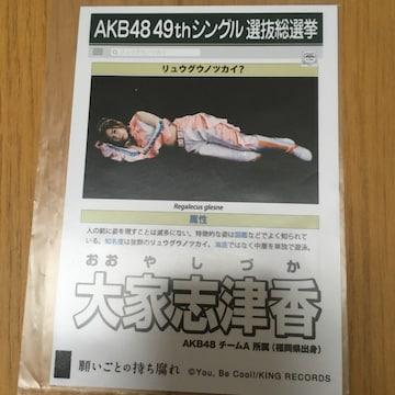 AKB48 大家志津香 願いごとの持ち腐れ 生写真