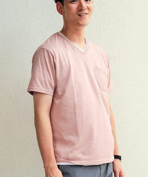 ☆チャオパニック TECH+DRY Vネック Tシャツ/メンズ/S/ピンク☆新品