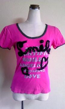 ピンクラテ半袖TシャツS