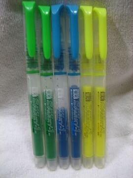 ZEBRA SPARKY-1 蛍光マーカー 3色×各2本 黄/緑/青
