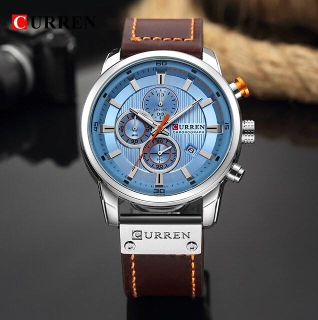 新作正規CURREN腕時計◆ブラウンMIX BIGフェイス◆海外限定 < 男性アクセサリー/時計の
