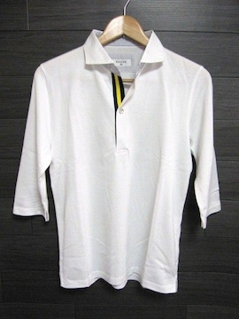 ☆EDIFICE/エディフィス 1B 七分袖 ポロシャツ/メンズ38(S)ホワイト☆新品