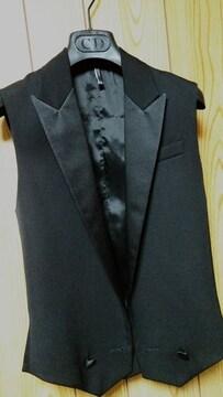正規未 Dior Hommeディオールオム スモーキングラペルジレ黒 ブラックベスト 最小38