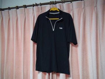 Lynxのポロシャツ(LL)ブラック!。
